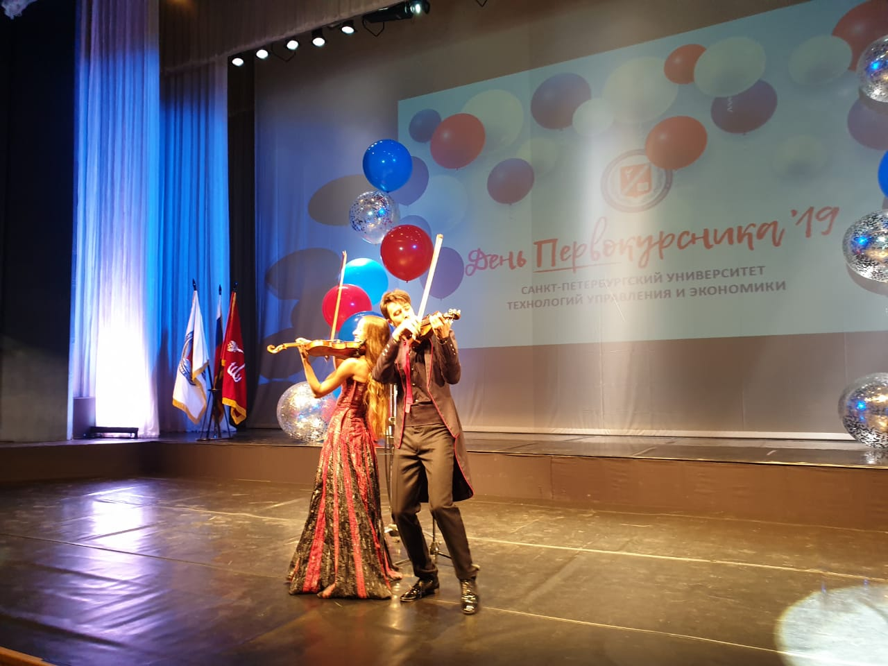 The first-year students received greetings in the Anichkov Palace